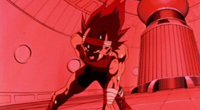 Entraînement de Vegeta dans la chambre de gravité (Photo: Toei Animation)