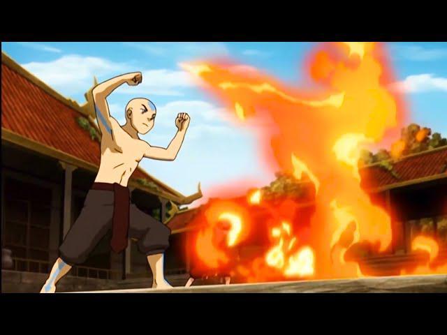 Aang a eu du mal à contrôler le feu (Photo: Nickelodeon)