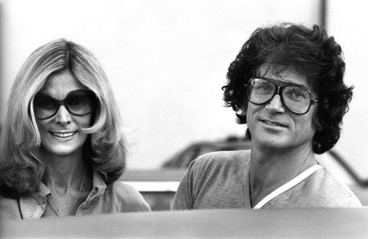 Michael Landon et sa femme Lynn Noe aperçus le 9 février 1979 sur Rodeo Drive à Beverly Hills