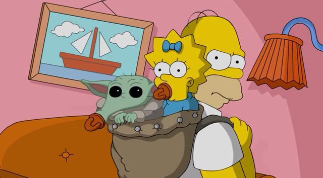 Homer kidnappe Baby Yoda dans un court métrage pour la Journée des investisseurs de Disney 2020 (Photo: Disney +)