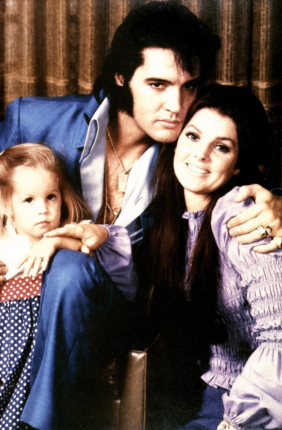Lisa Marie Presley, Elvis Presley et Priscilla Presley