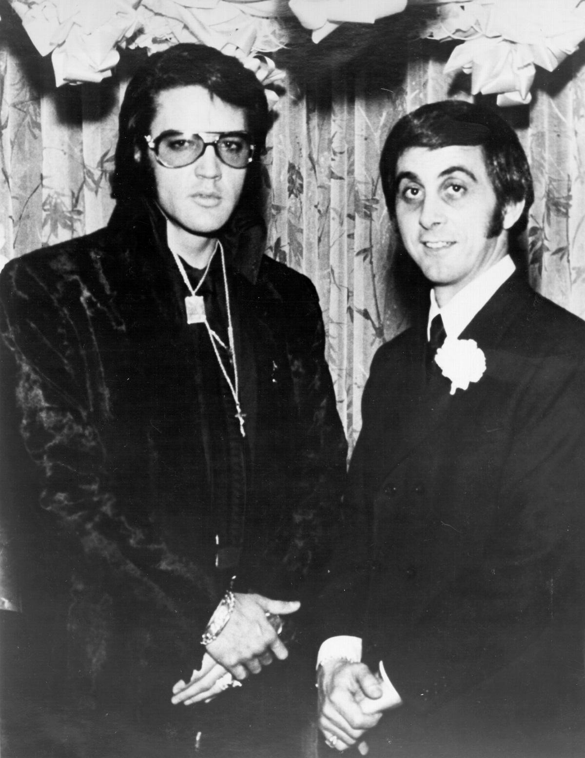 Elvis Presley et George Klein en 1970