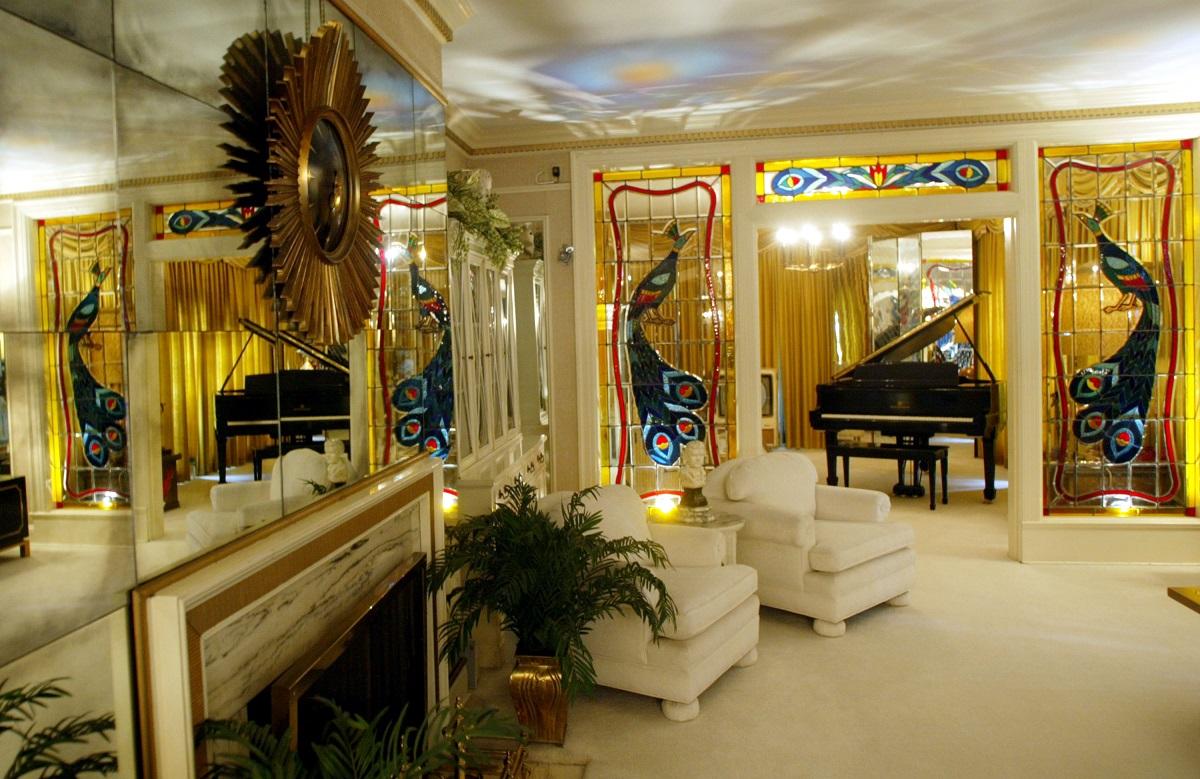 Le salon d'Elvis Presley à Graceland