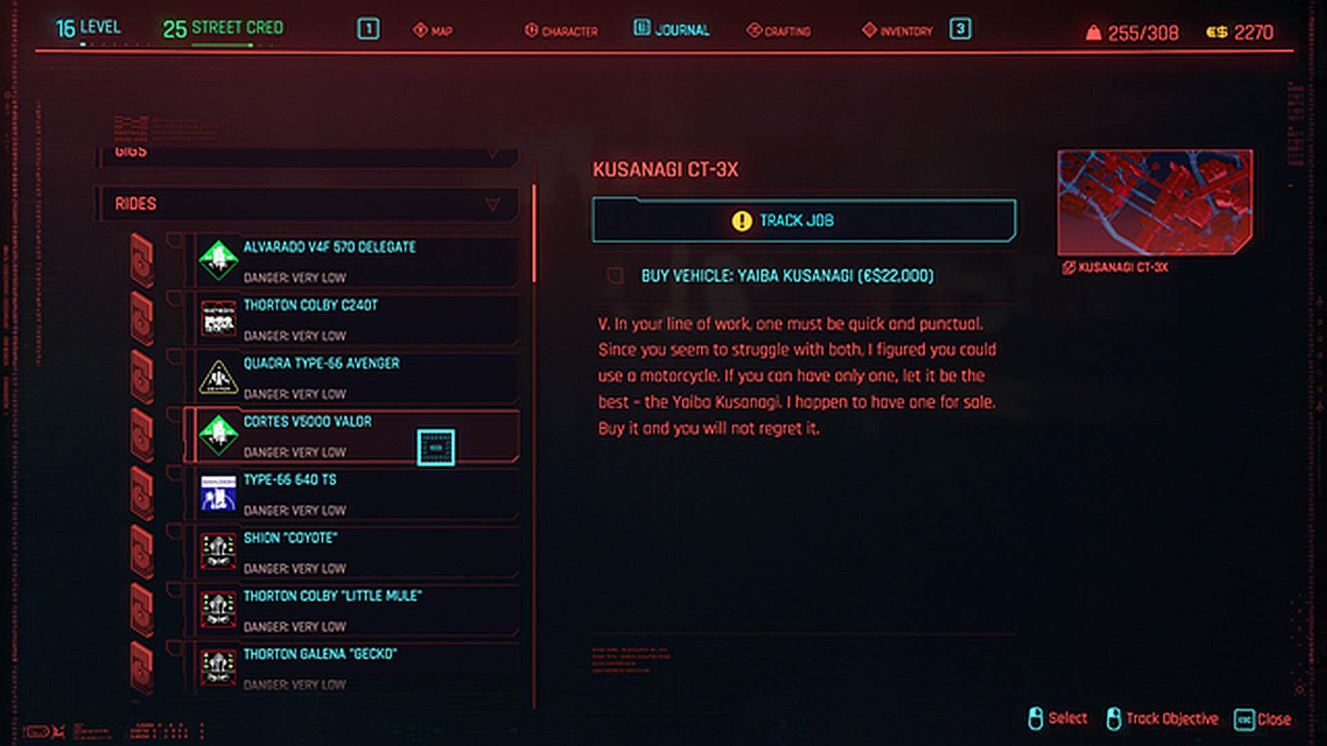 Cyberpunk 2077 - Acheter et activer des voitures - Toutes les voitures