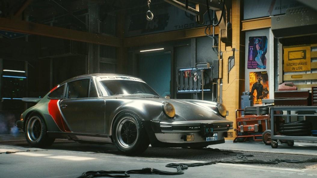 Cyberpunk 2077 Porsche exposée par Johnny Silverhand
