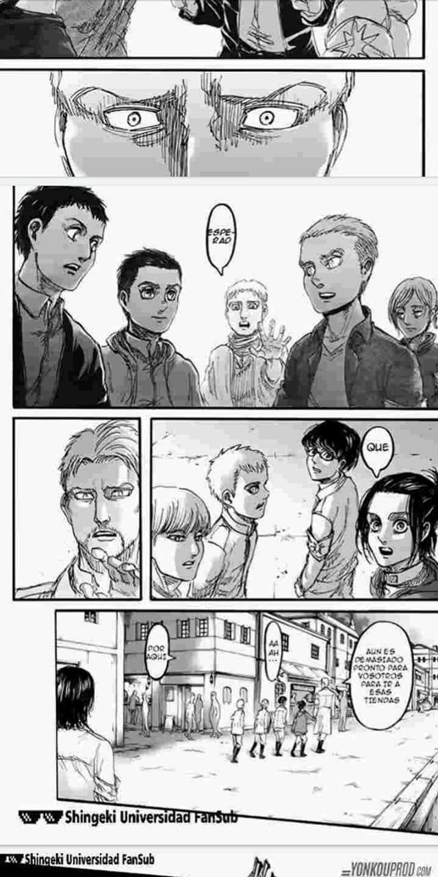 Eren apparaît dans le volume 23, les chapitres 93 et 94 du manga (Photo: Kodansha)