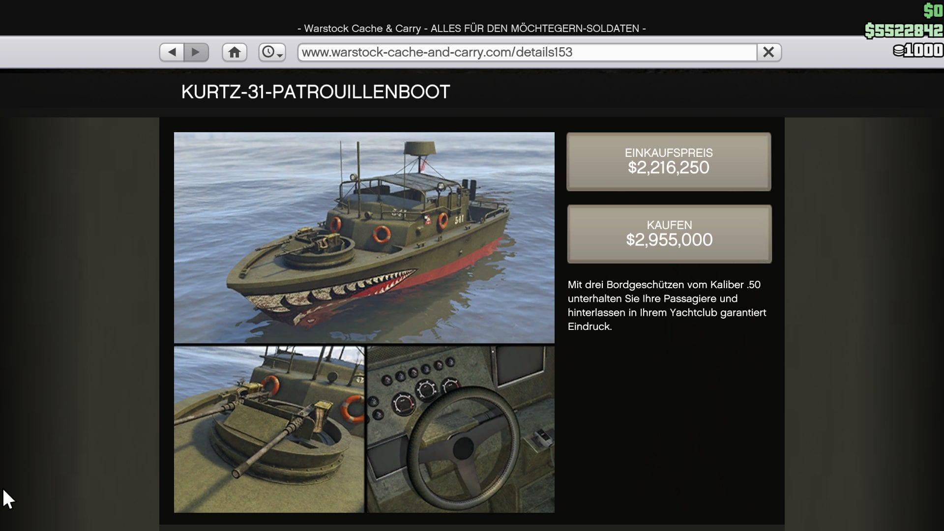 GTA Online - Bateau de patrouille Kurtz 31