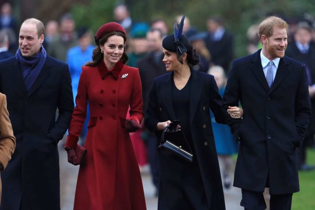 Prince William, duc de Cambridge, Catherine, duchesse de Cambridge, Meghan, duchesse de Sussex et prince Harry, duc de Sussex