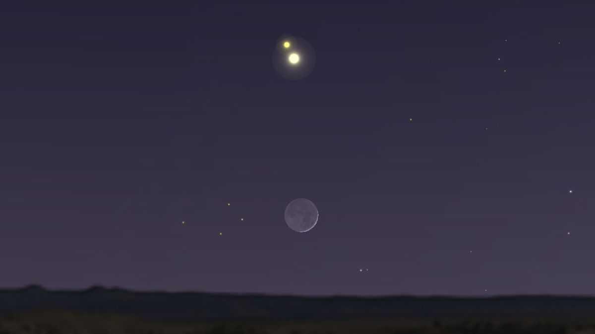 Jupiter Et Saturne Se Balancent Sur La Lune Cette Semaine
