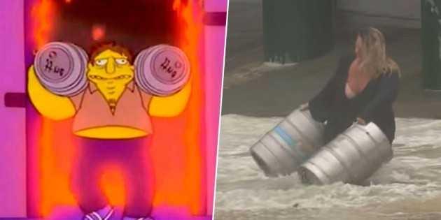 La dernière prédiction des Simpsons: il a risqué sa vie pour deux barils de bière