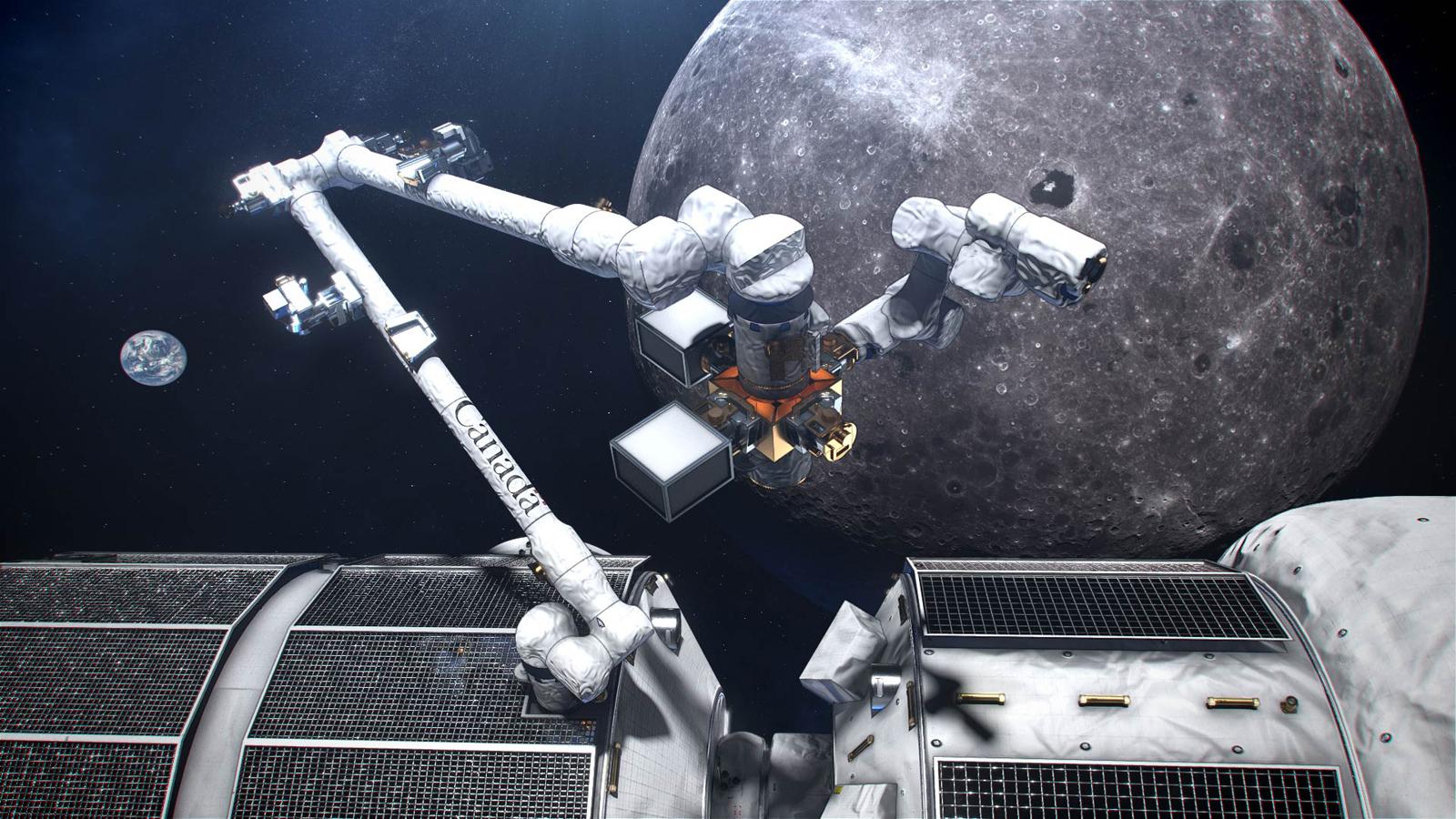 L'Agence spatiale canadienne s'est jointe au projet de passerelle de la plateforme en orbite lunaire de la NASA pour l'exploration de la lune avec son bras robotique Canadarm3.