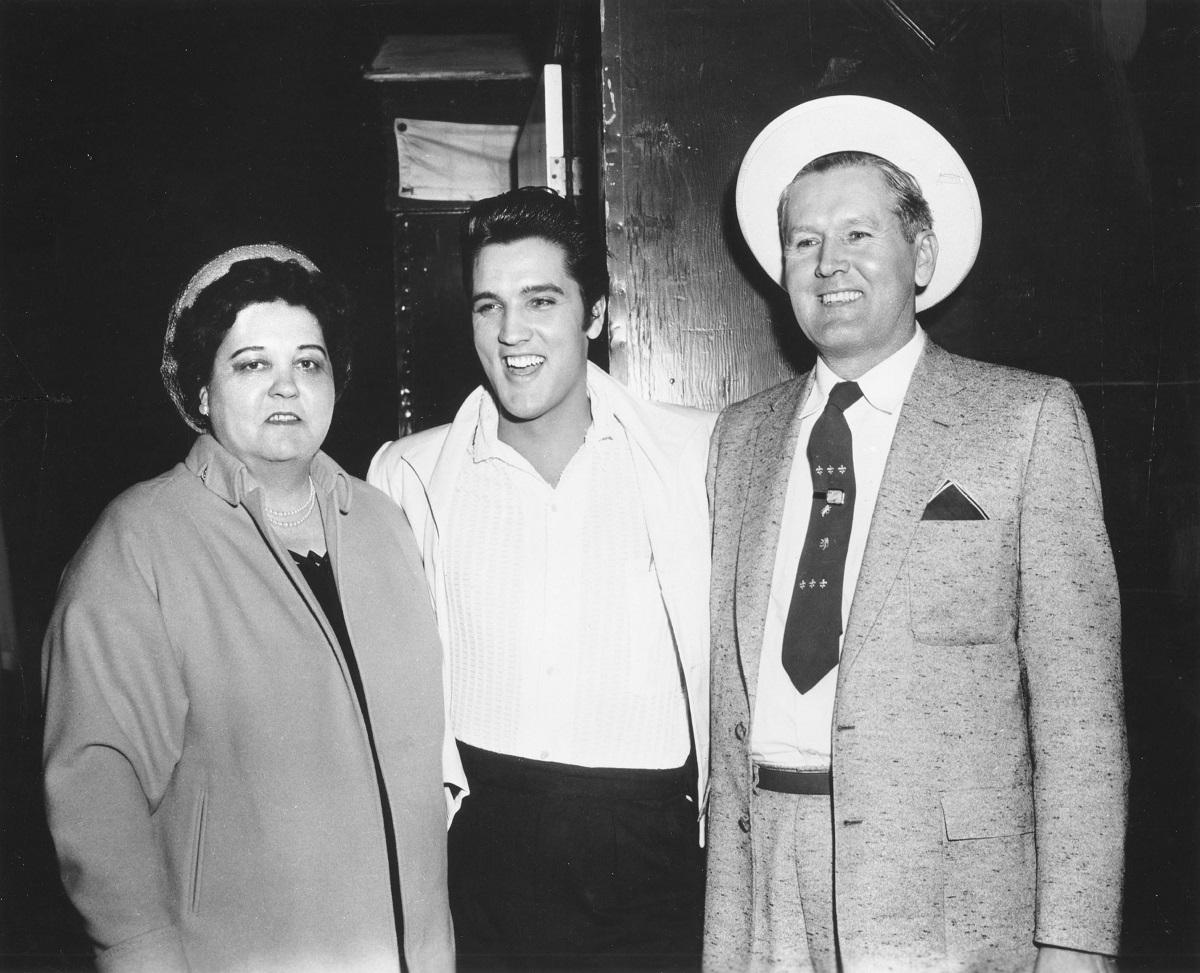 Gladys, Elvis et Vernon Presley