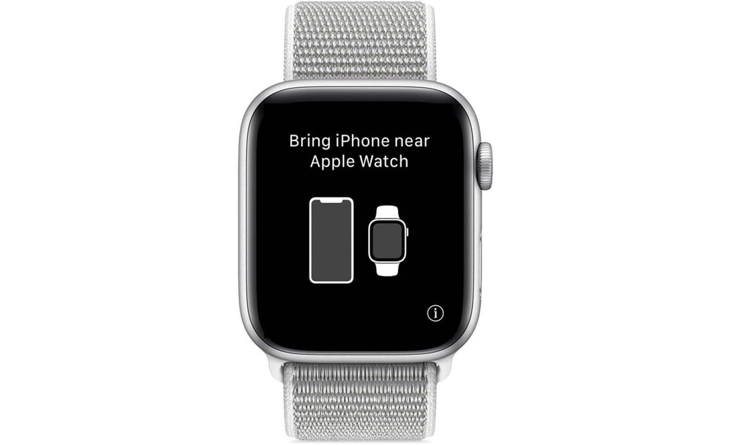 Icône i sur une Apple Watch non appariée