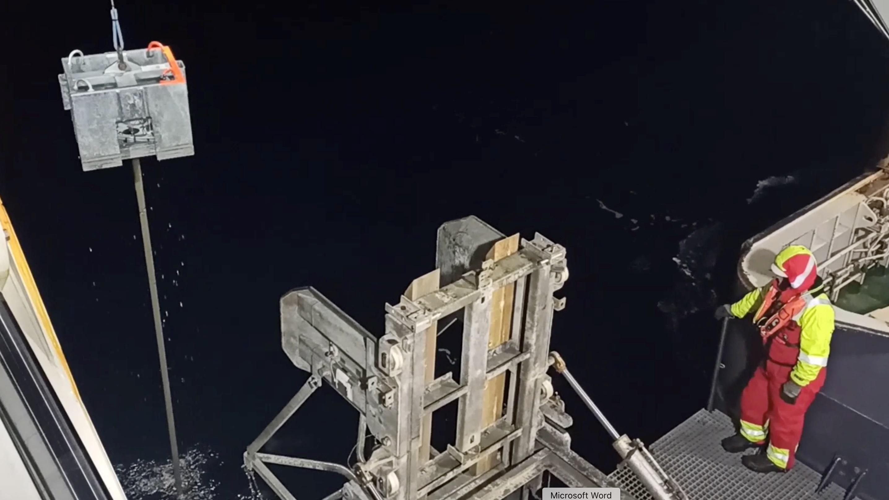 L'outil, connu sous le nom de piézomètre, a été utilisé pour surveiller le rejet de méthane des sédiments du fond océanique.