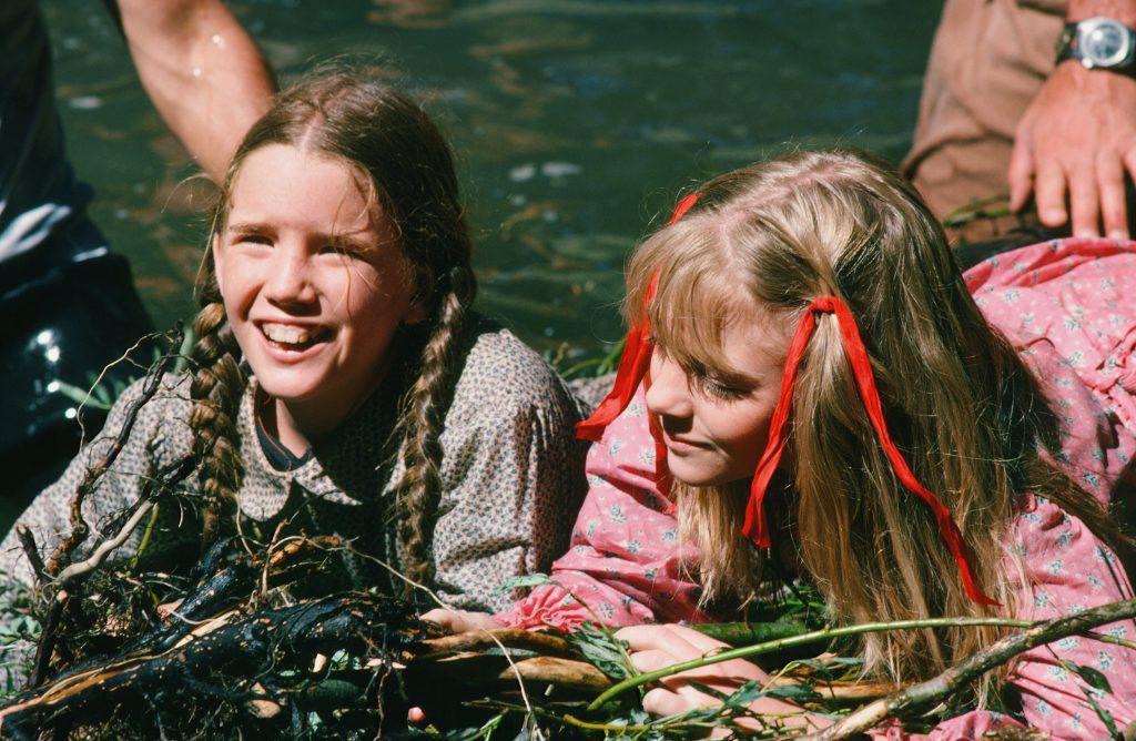 Alison Arngrim, à droite, avec Melissa Gilbert