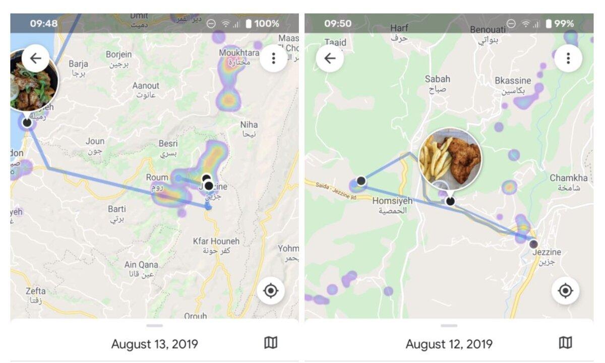 itinéraires google photos