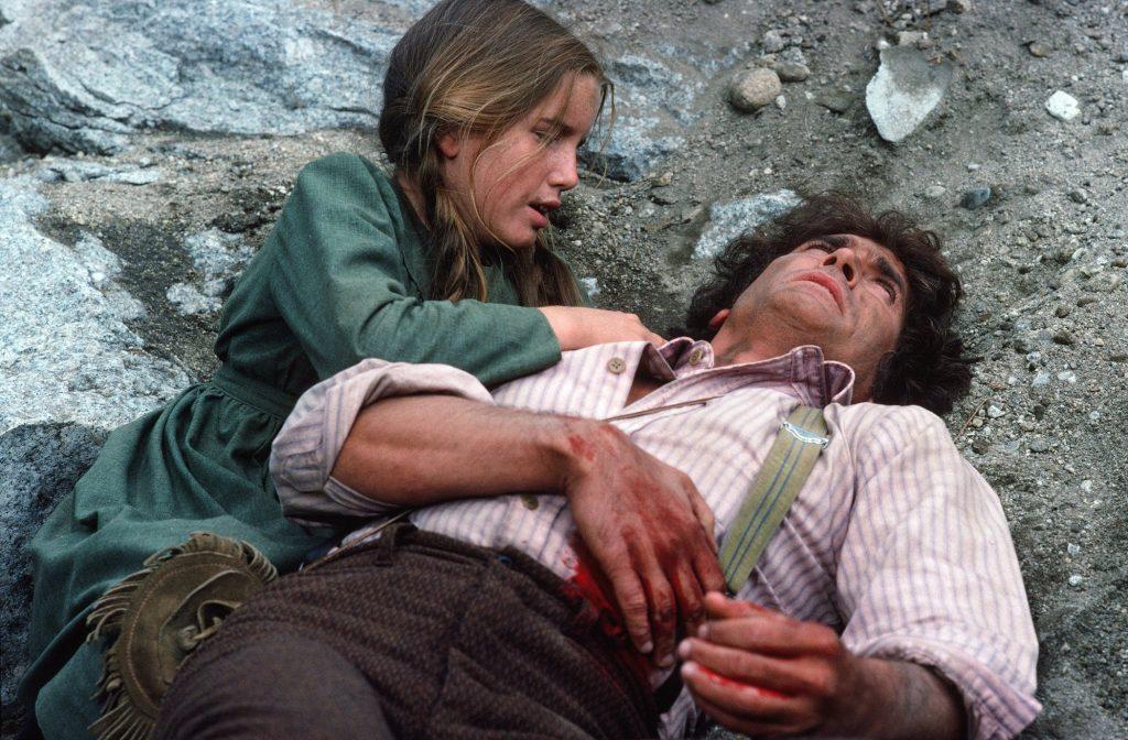 Michael Landon comme Charles Philip Ingalls et Melissa Gilbert comme Laura Ingalls dans 'Little House on the Prairie'