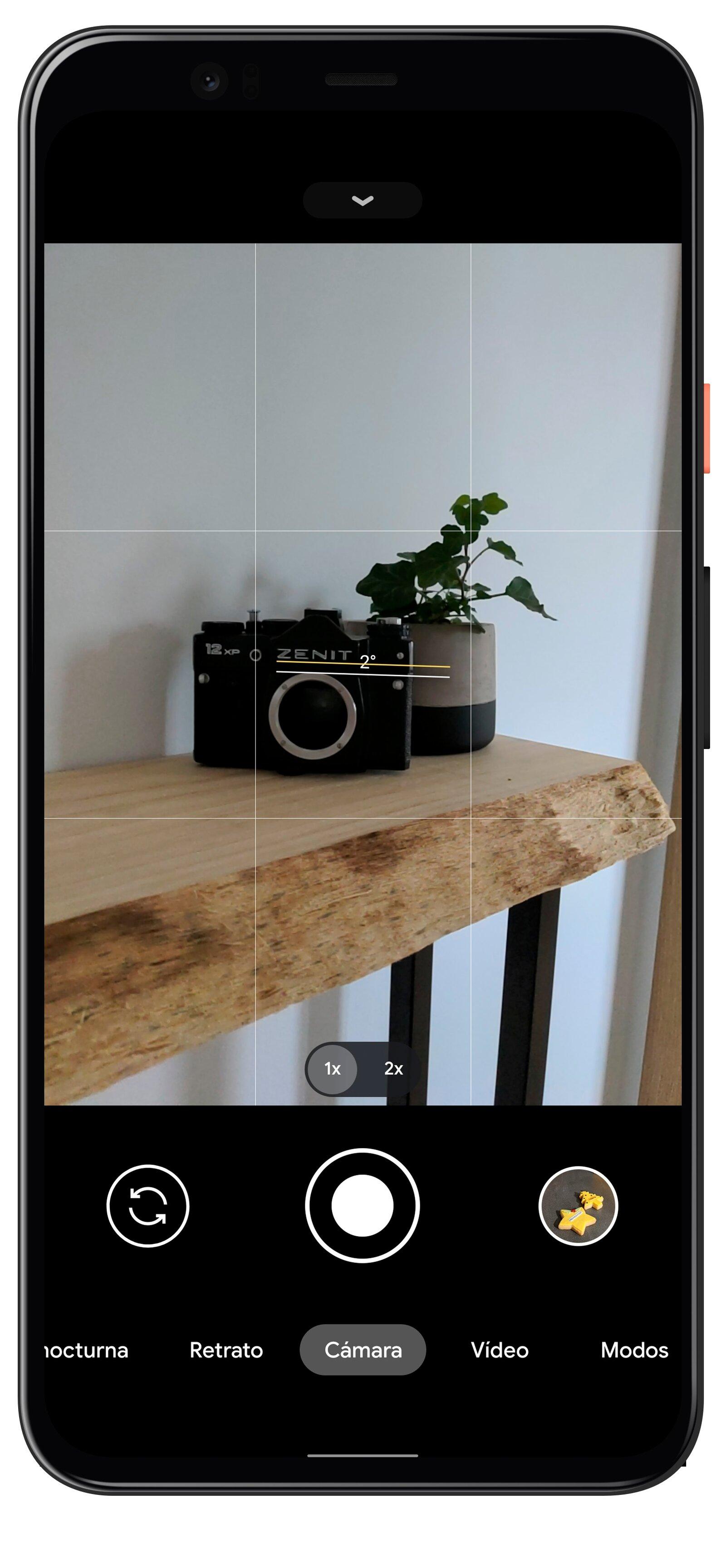 Photos droites sur l'appareil photo Google
