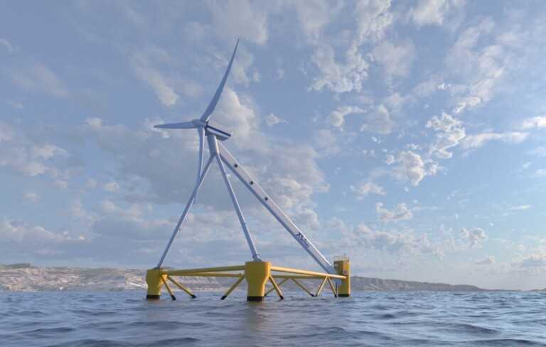X1 Wind, le système éolien flottant développé à Barcelone qui profite des vagues de la mer pour créer de l'énergie