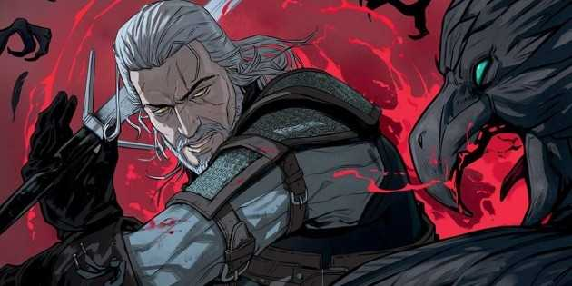 Logo officiel de Nightmare of the Wolf, le film d'animation The Witcher