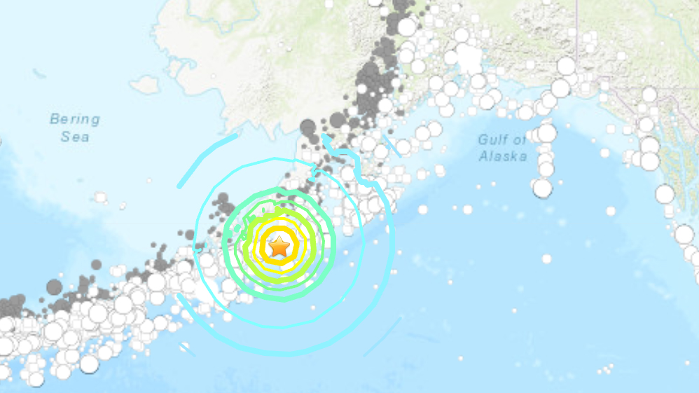 Un séisme de magnitude 7,8 a frappé la côte de l'Alaska le 22 juillet 2020.