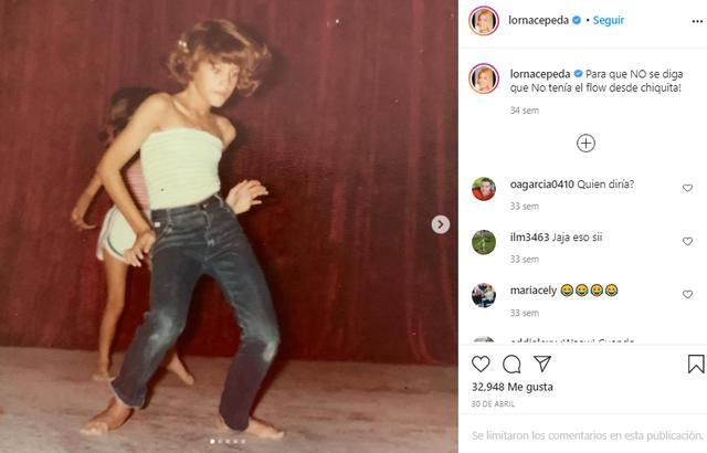 Enfant, Lorna Cepeda a toujours aimé danser (Photo: Instagram)