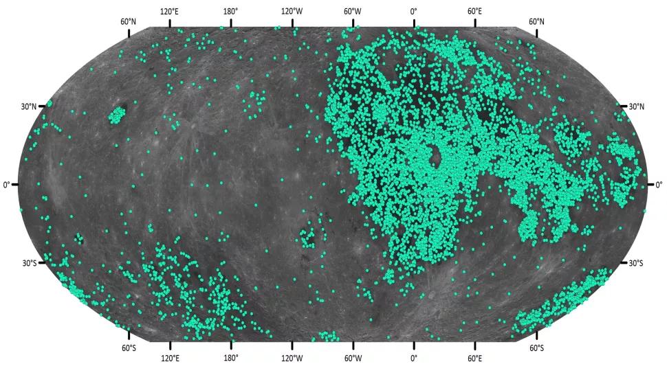 Nouveaux cratères découverts dans le système ératosthénien, vieux de 3,2 à 1,1 milliard d'années