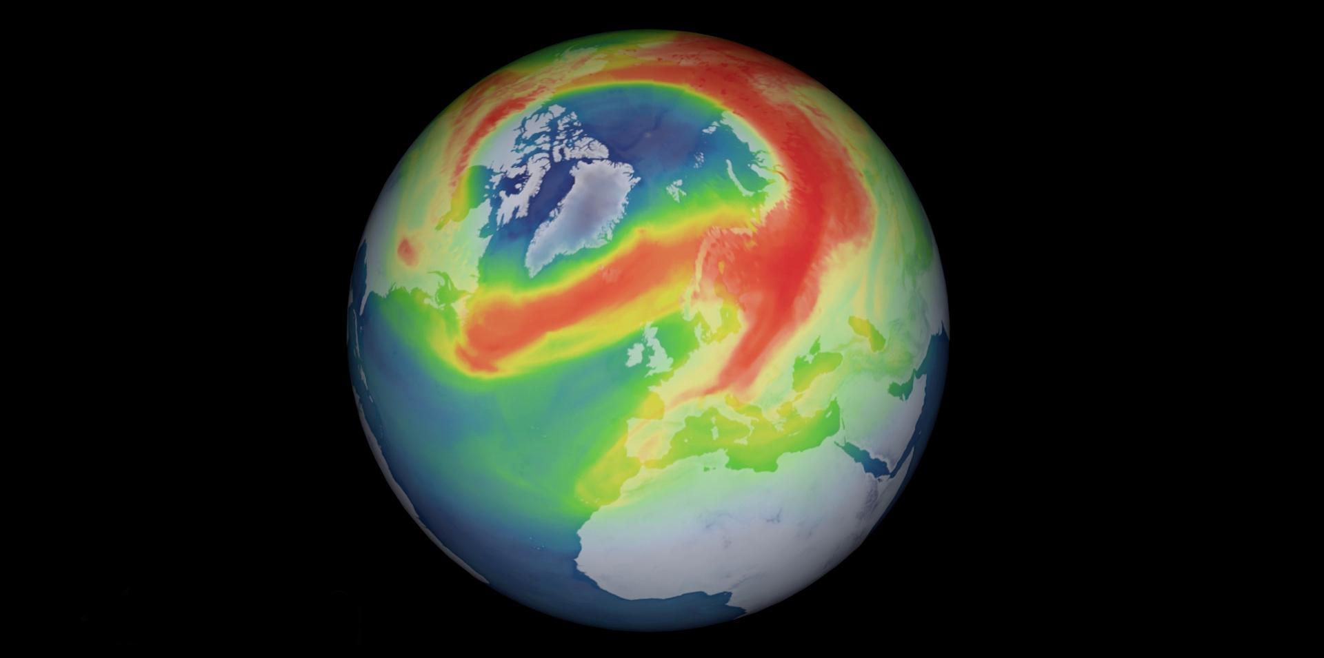 Un trou dans la couche d'ozone s'est ouvert au-dessus du pôle Nord