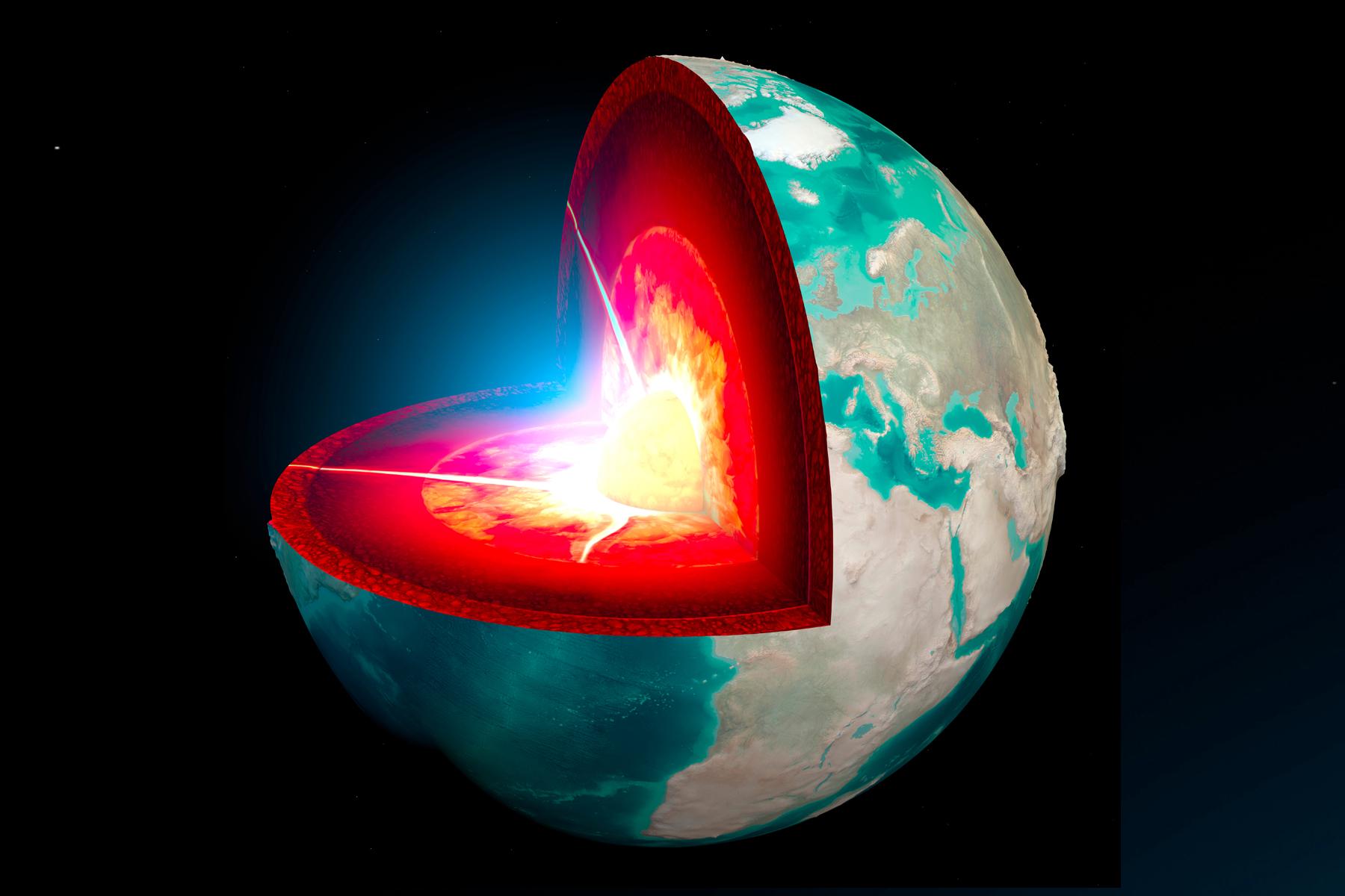 Les couches de la Terre montrées dans cette image modifiée de la NASA.