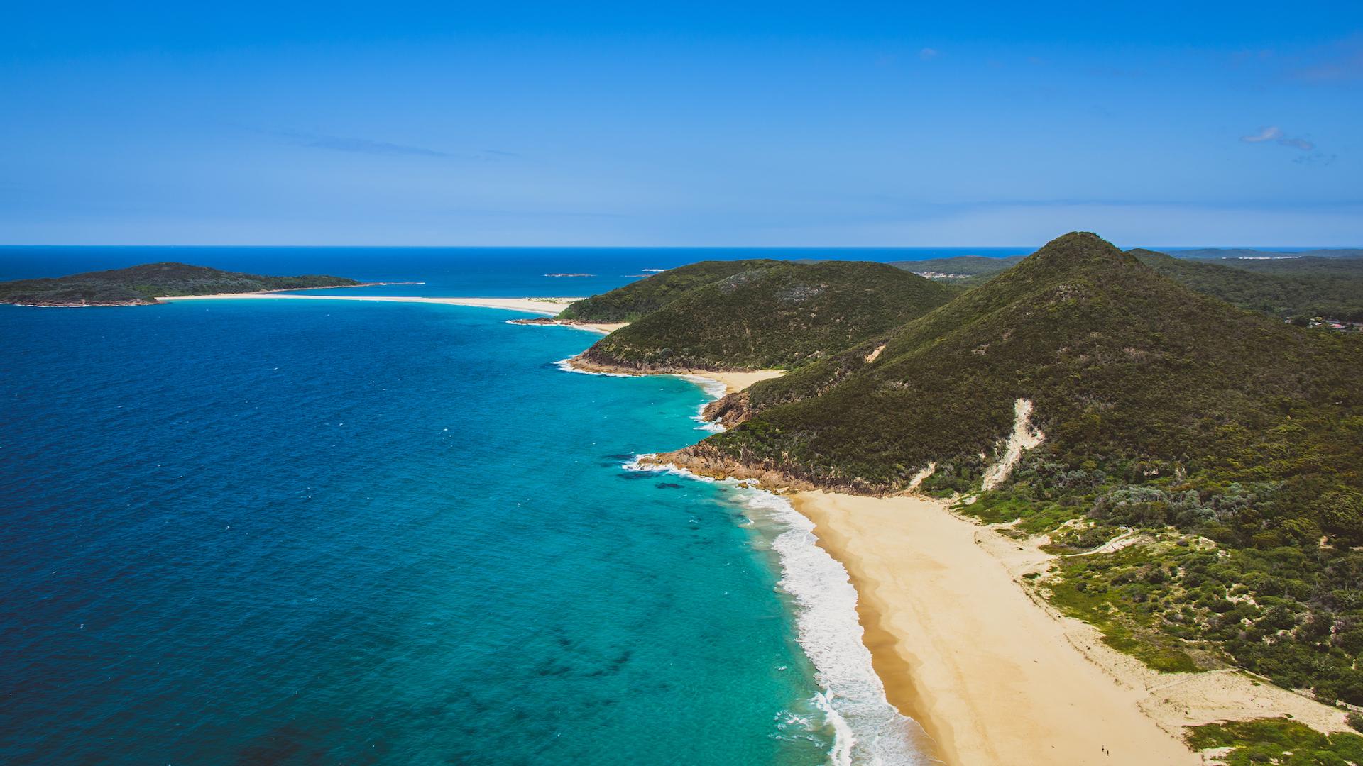 Port Stephens en Australie était l'un des endroits où les planeurs robotiques ont trouvé une rivière sous-marine.
