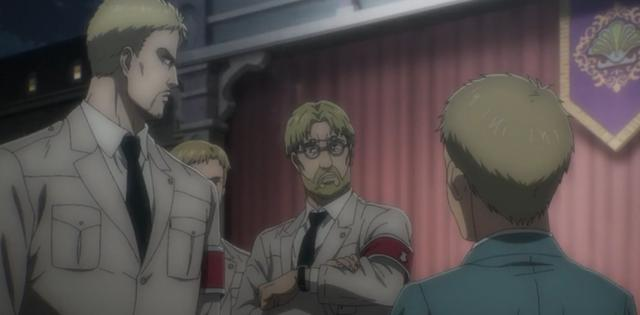 Zeke donne à Falco la permission de Reiner de l'accompagner (Photo: Crunchyroll)