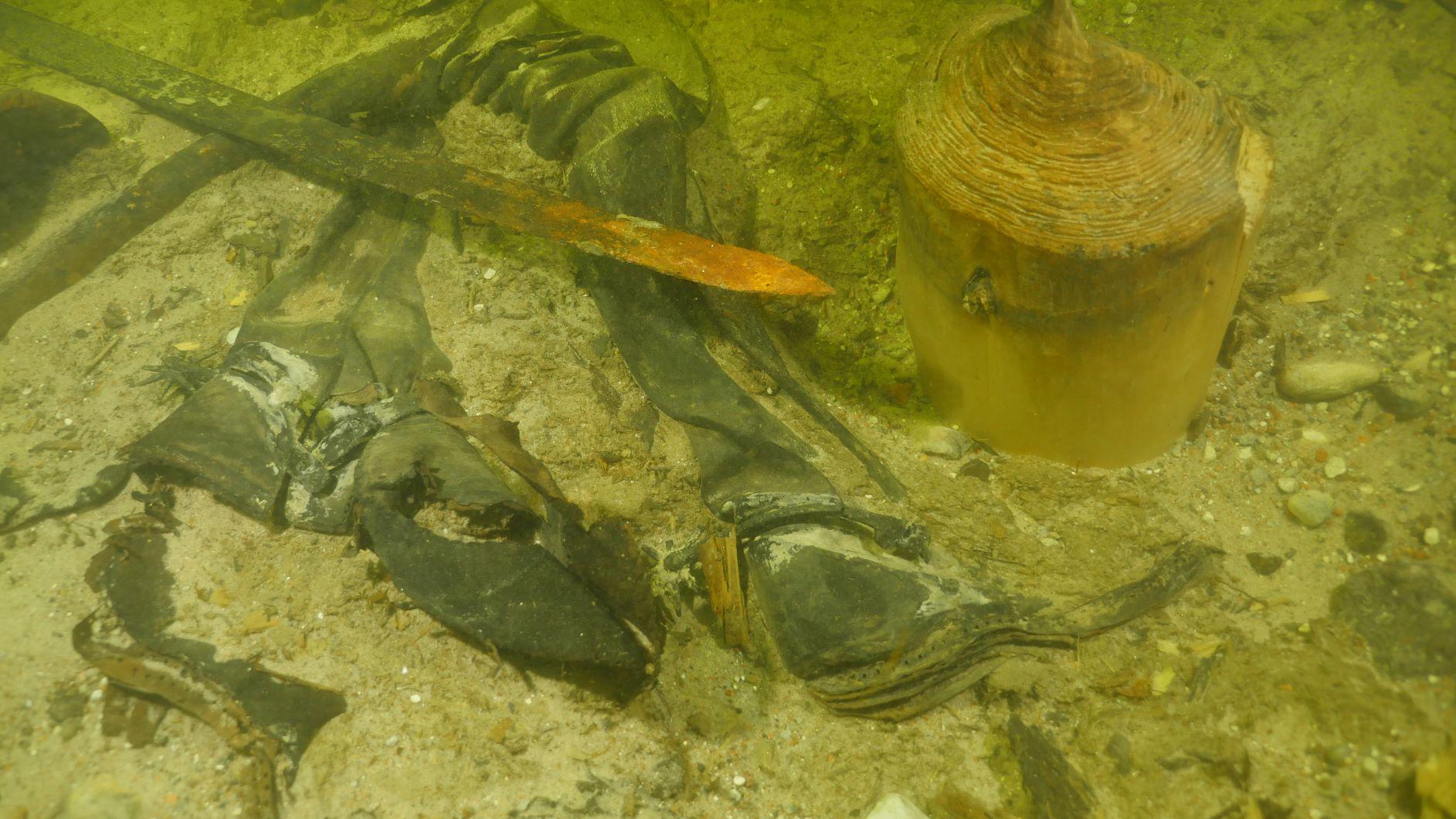 Le squelette et les artefacts étaient étonnamment bien conservés.
