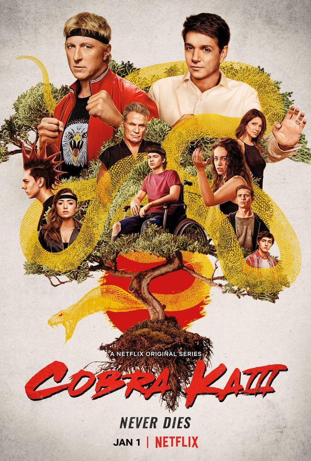 """Affiche officielle de la troisième saison de """"Cobra Kai"""" (Photo: Netflix)"""