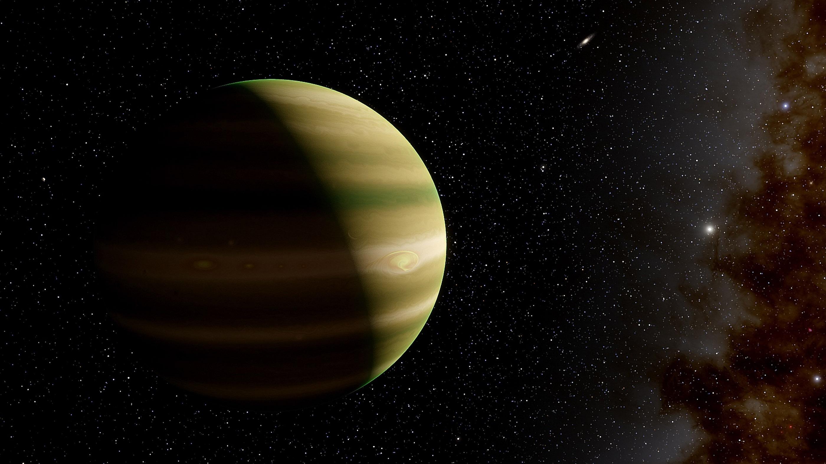 Illustration d'une géante gazeuse comme Jupiter.