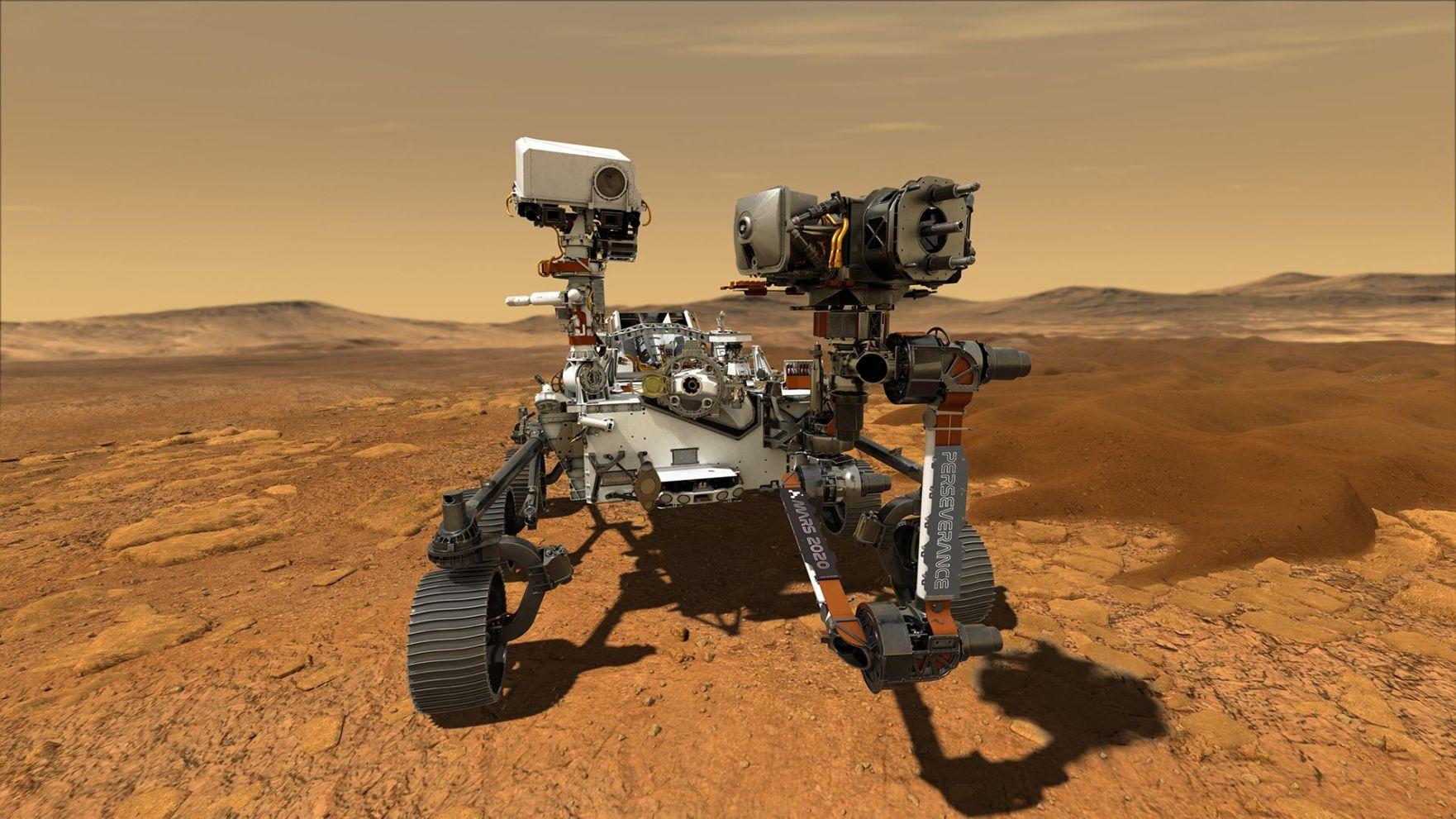 Mars Perseverance - étapes de la mission.