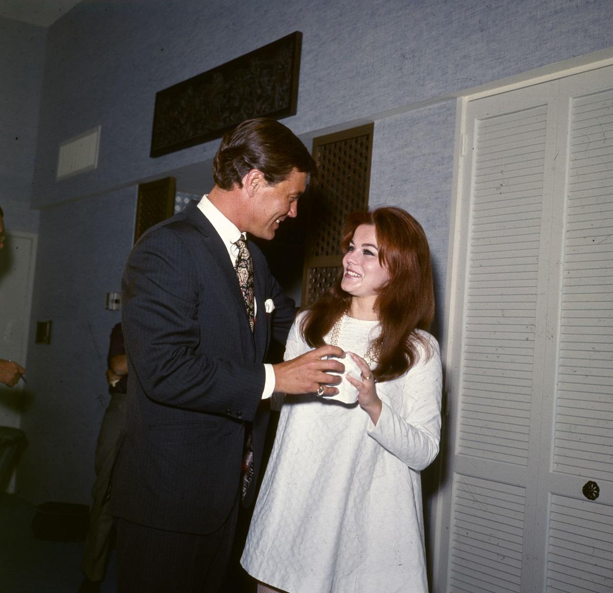 Ann-Margret et Roger Smith à leur mariage en 1967