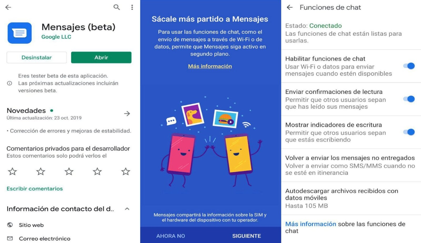 Messages Android RCS