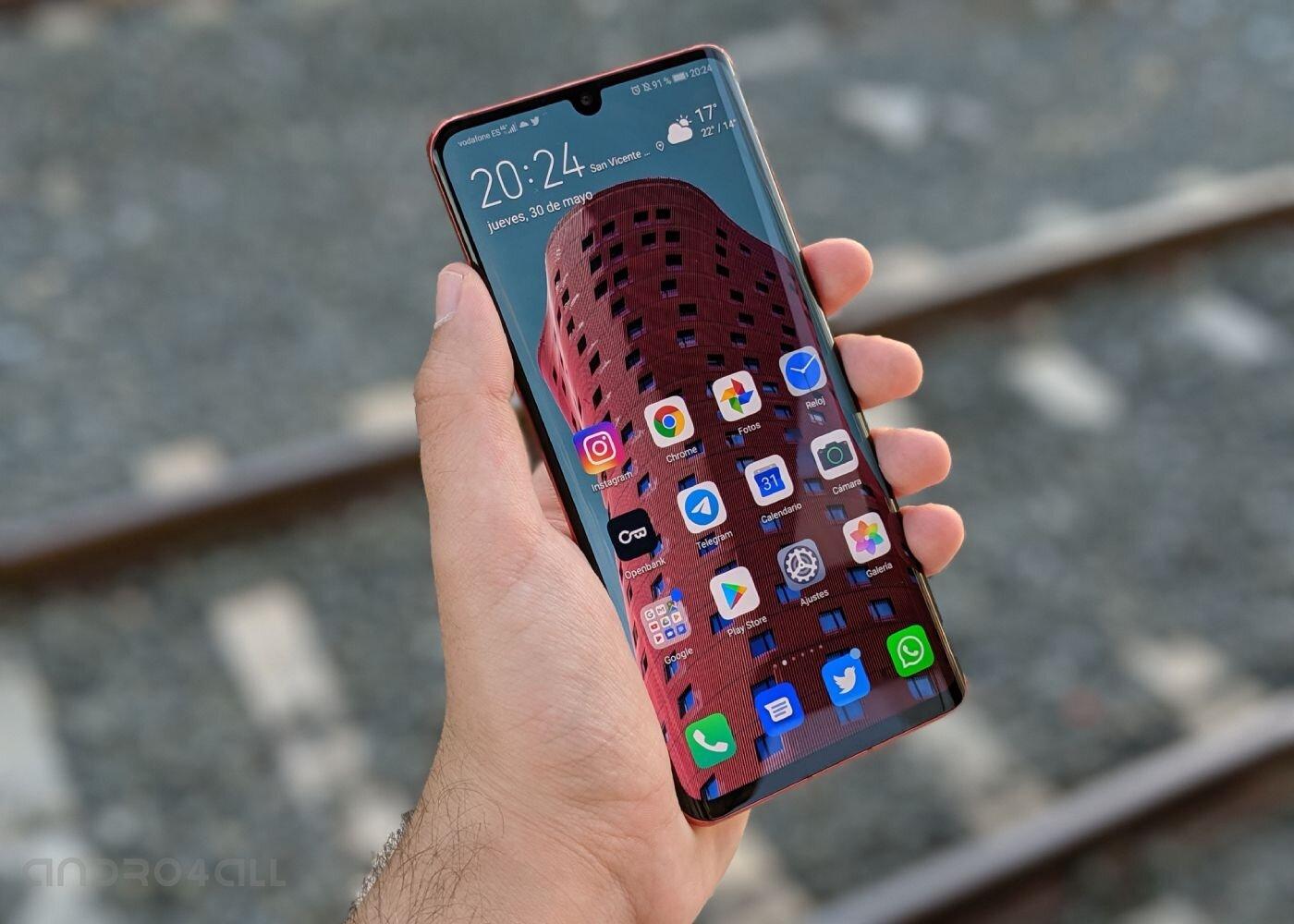 Huawei P30 Pro, écran et logiciel