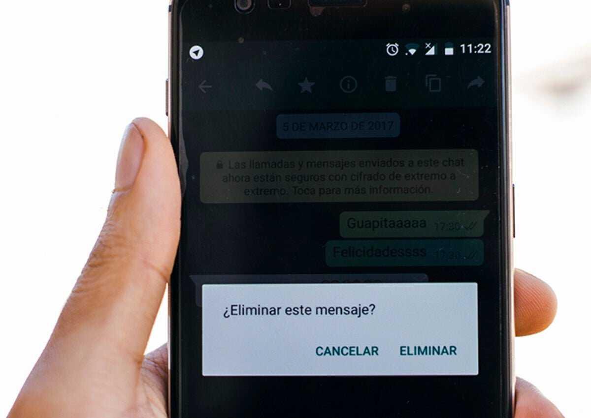 Supprimer les messages WhatsApp