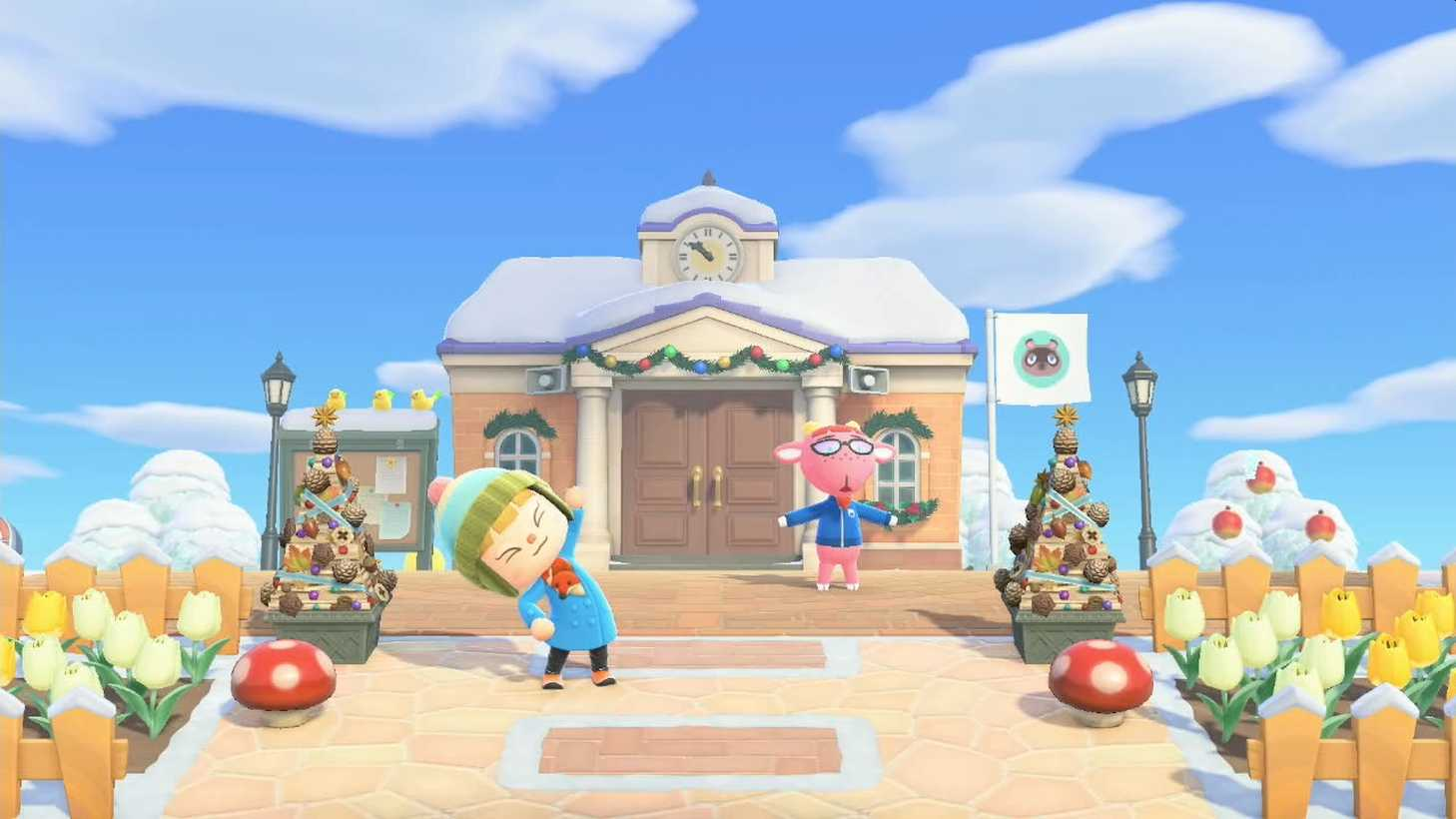 "Animal Crossing: New Horizons ""Ninten Island"" Updates With Winter Scenery"