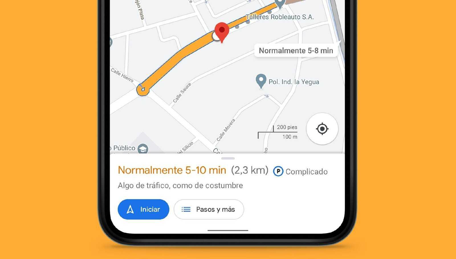 Connaître le trafic sur un itinéraire dans Google Maps