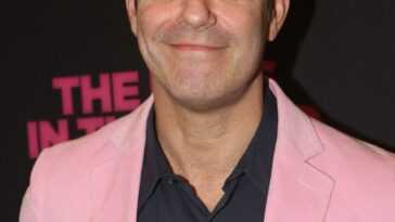 Andy Cohen poses at the opening night of the 50th year celebration of the classic play revival of