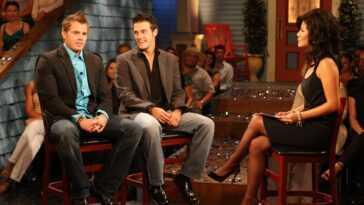 "Second place contestant Memphis Garrett,  Dan Gheesling, the winner of the ""Big Brother Season 10 Grand Finale"""