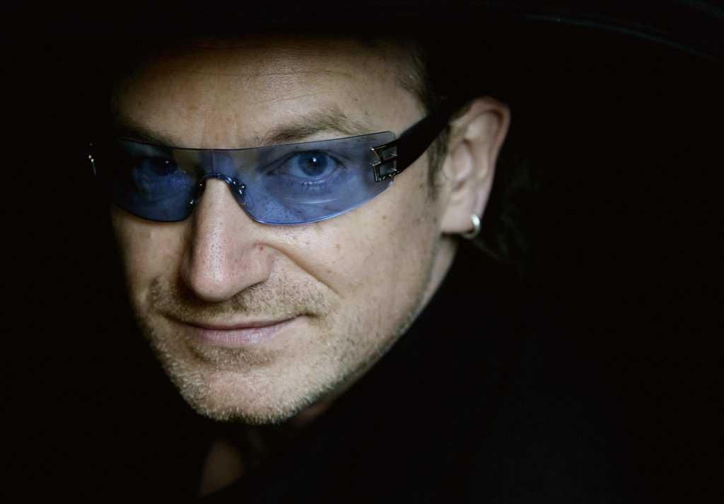 Bono in glasses