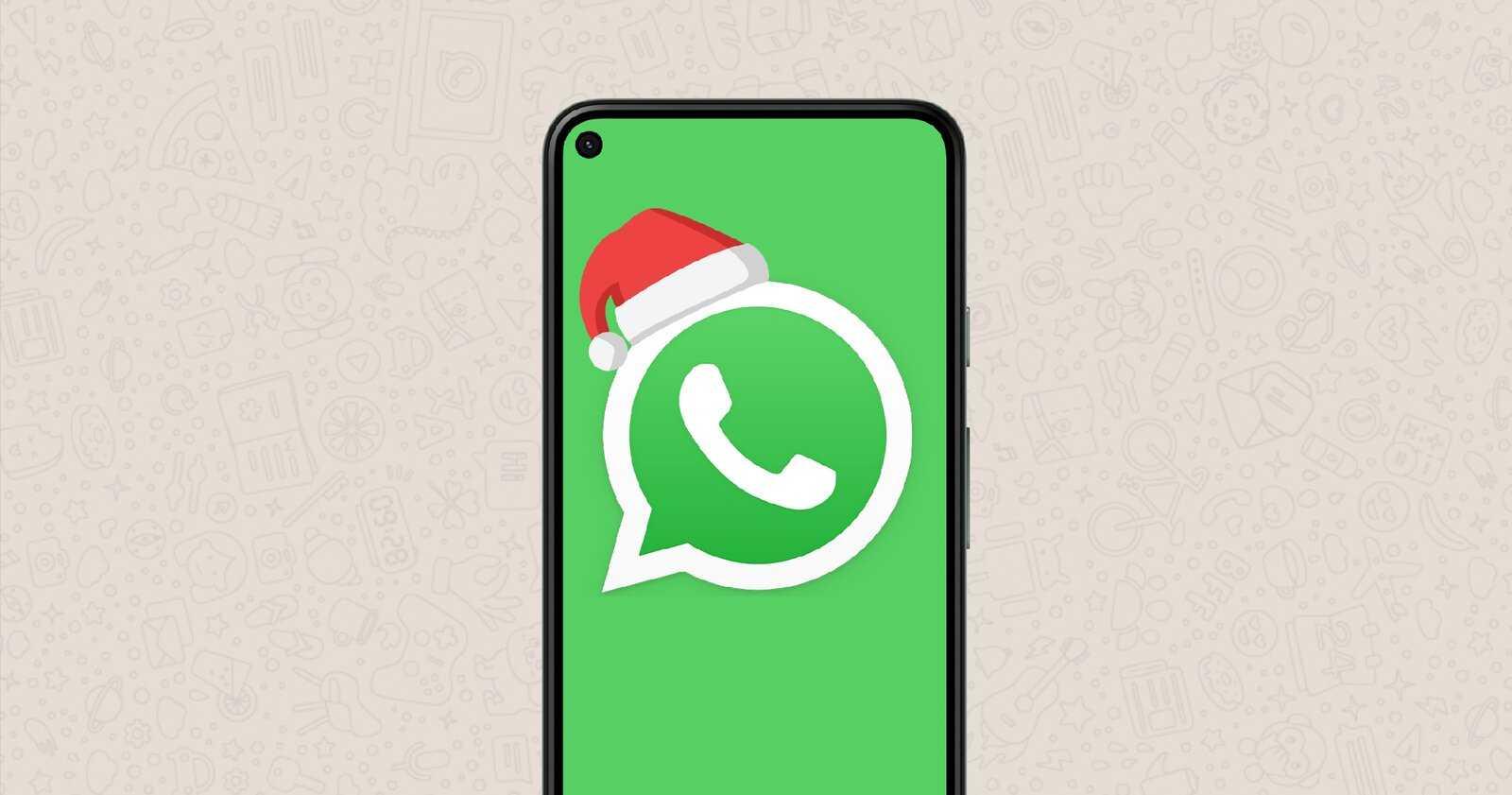 WhatsApp à Noël