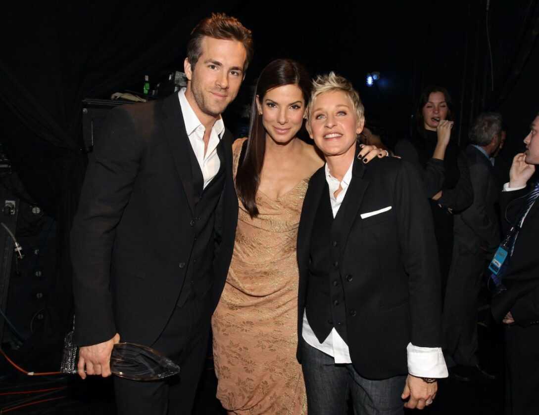Ryan Reynolds, Sandra Bullock, and Ellen DeGeneres at the People