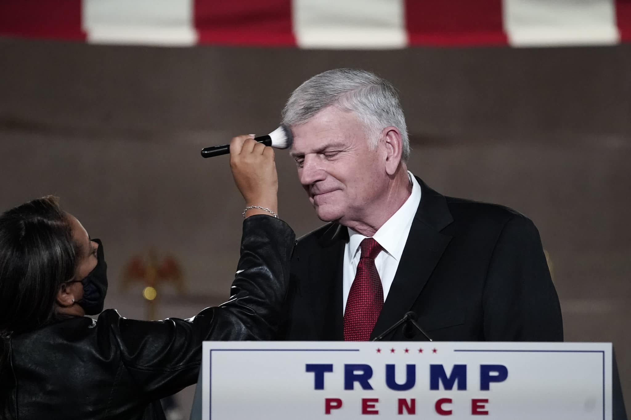 Le révérend Franklin Graham, prend la parole à la Convention nationale républicaine