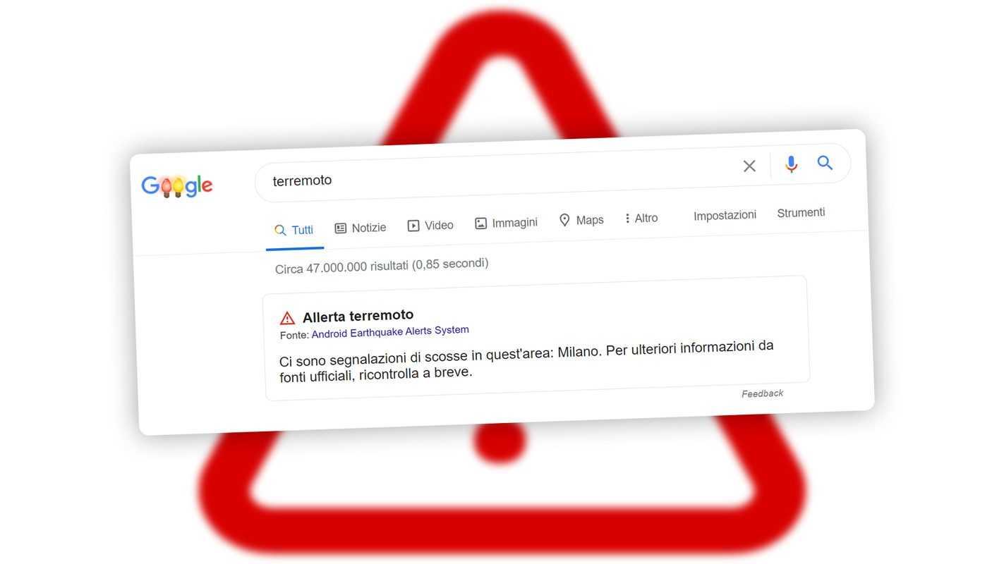 Google A Détecté Le Tremblement De Terre à Milan En