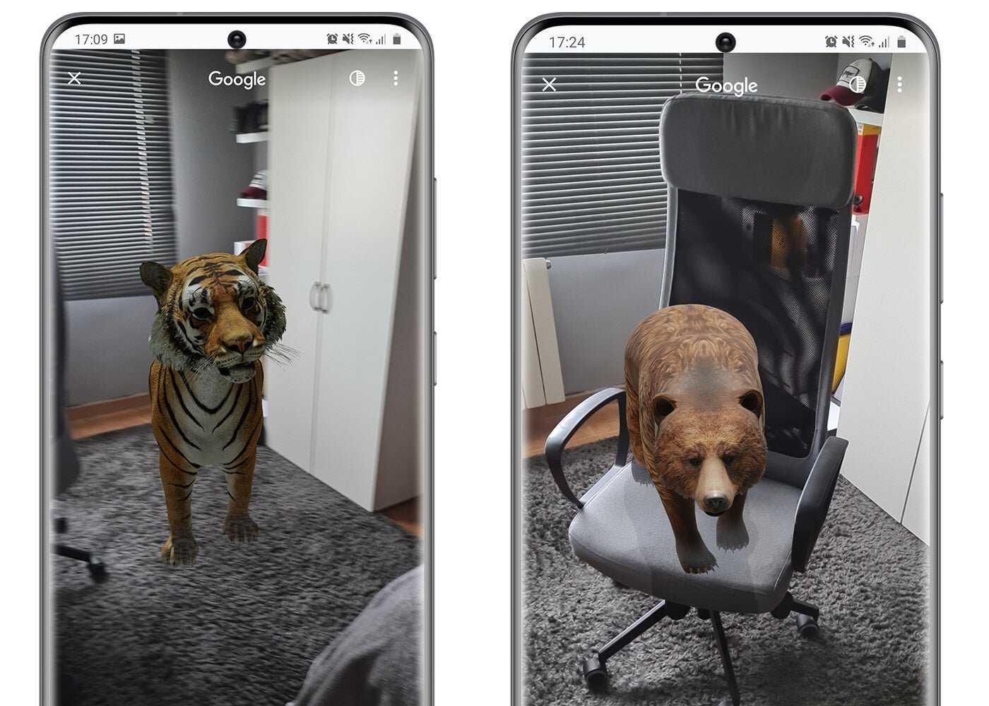 Animaux 3D sur Google