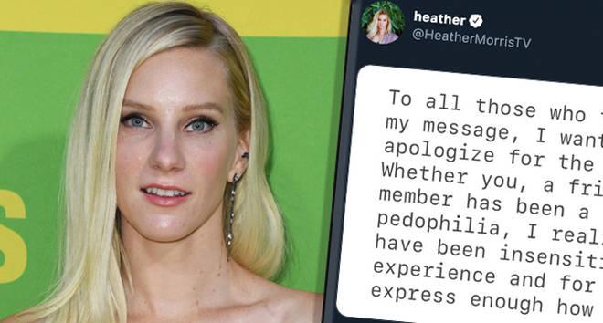 Glee & squot; s Heather Morris s'excuse pour